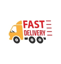 Fast Delivery Icon Flat Style vector image