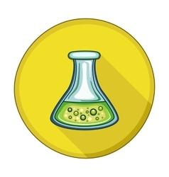 Flask Tube flat icon vector image