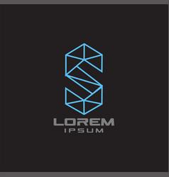 geometric s logo vector image