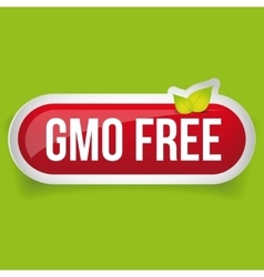 GMO free icon button vector image