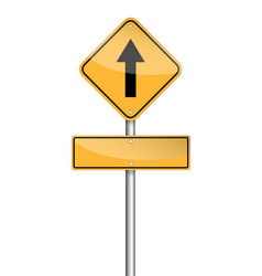 Go straight ahead sign and empty sign for text on vector