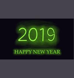 happy new 2019 year vector image