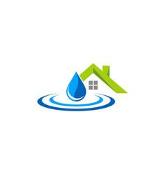 home waterdrop logo vector image
