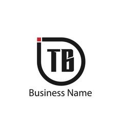 Initial letter tb logo template design vector