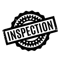 Inspection rubber stamp vector