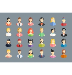 Large set avatars vector