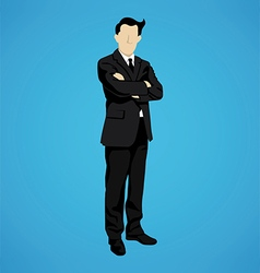 leader successful businessman vector image