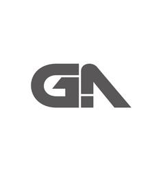 Letter ga simple geometric arrow logo vector