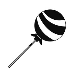 lollipop sweet icon simple style vector image