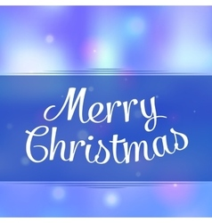 Merry christmas greeting background with holiday vector image