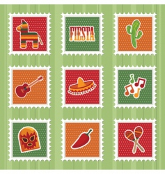 Mexican stamps vector image