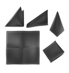 Mock up black set handkerchief vector