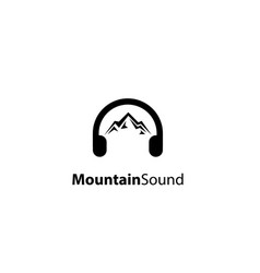 mountain sound logo design vector image