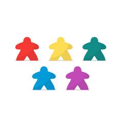 Multicolor meeples vector