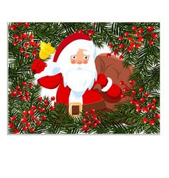 New year christmas card flyer invitation santa vector