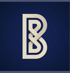 Paper b simple letter symbol vector
