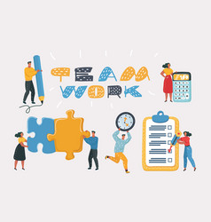 people working together in the company vector image