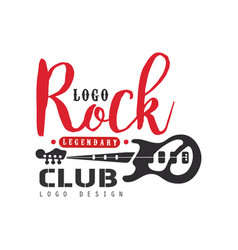 Rock club logo design can be used for poster vector