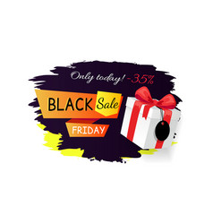sale on black friday discounts 35 percent off box vector image