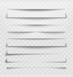 Separator line or shadow divider for web page vector