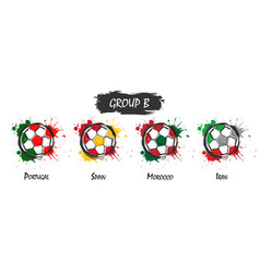 set of national football team group b vector image