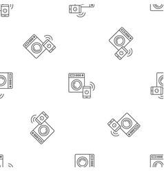 Smart wash machine pattern seamless vector