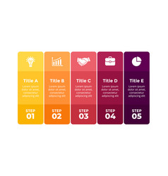 Squares colorful infographic presentation vector