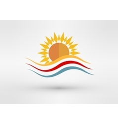 Sun Energy Logo Template vector image