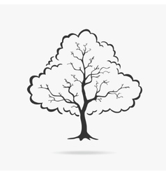 symbol tree vector image