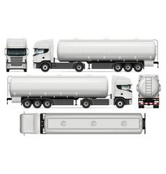 Tanker truck template vector