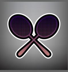 two tennis racket sign violet gradient vector image