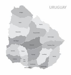 uruguay regions map vector image