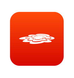 Water puddle icon digital red vector
