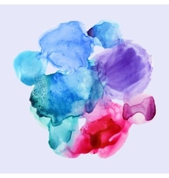 watercolor background set for textures vector image