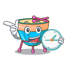 With clock cartoon timpani in the orchestra group vector