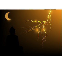 buddha on a lightning background vector image vector image
