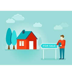 flat - house for sale vector image vector image