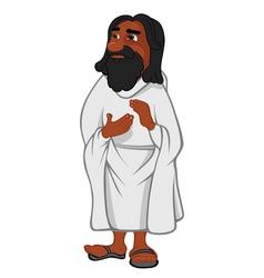 Jesus Christ black vector image
