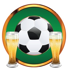 Beer and Soccer Ball6 vector image vector image