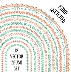 Laurel brushes vector image vector image
