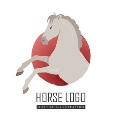 Rearing Grey Horse in Flat Design vector image vector image