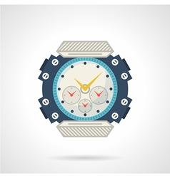 Sport wrist watch flat icon vector image