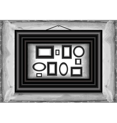 Abstract background with frames vector image