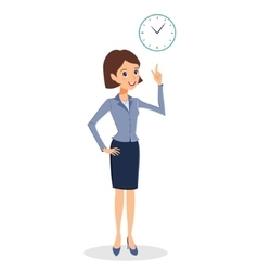 Business woman time management concept vector image