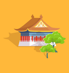 confucius oldest temple in taiwan flat and shadow vector image