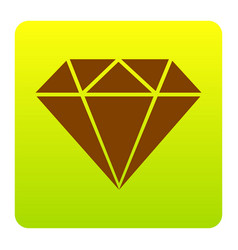 diamond sign brown icon at vector image vector image