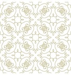 Golden line pattern on white background vector