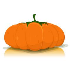halloween pumpkin vegetable vector image
