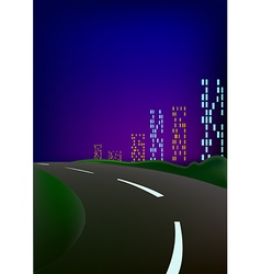 Hight city vector image vector image