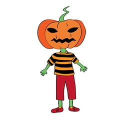 pumpkin mask vector image